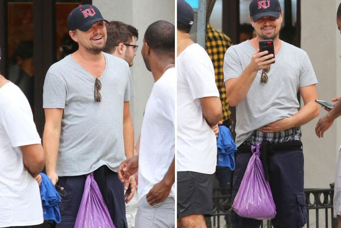 People Really Want To Know What's In Leonardo DiCaprio's Plastic Bag