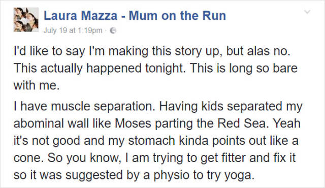 Mom Embarrasses Herself Big Time In Yoga Class