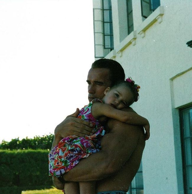 Arnold Schwarzenegger And His Daughter Then And Now