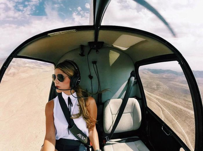Hot Helicopter Pilot Luana Torres