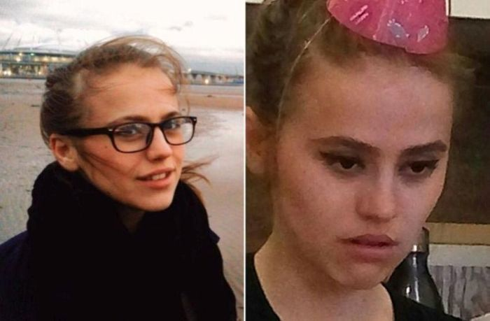 The same Girls in Internet And Real Life