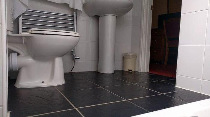 Hotel Room Has Bath Tub In An Odd Spot