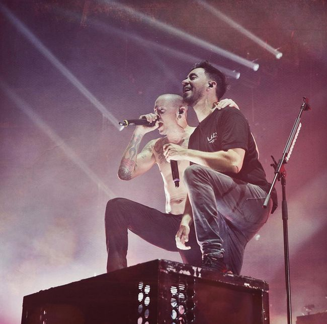 Mike Shinoda Shares First Photo Linkin Park Took With Chester Bennington