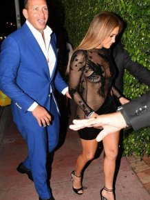 Jennifer Lopez Wears Sexy See Through Outfit To Her Own Birthday Party