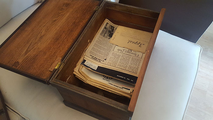 Girl Discovers Old Box In Her Grandpa's Closet