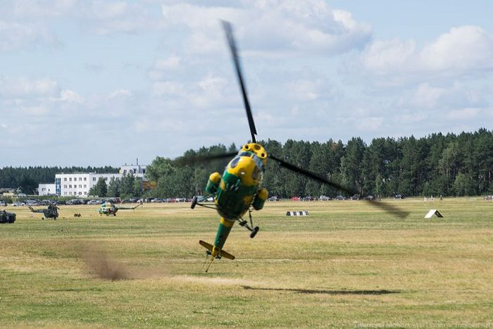 Helicopter Has A Very Rough Landing