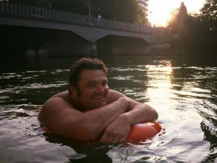 German Man Swims To Work To Avoid Traffic Jams