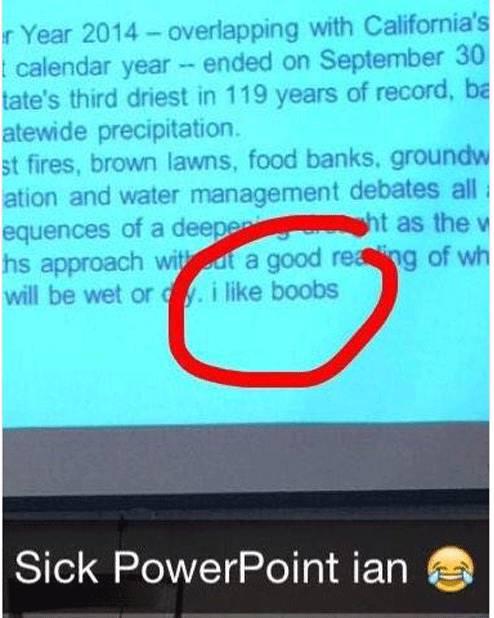 Class Presentations That Quickly Got Awkward