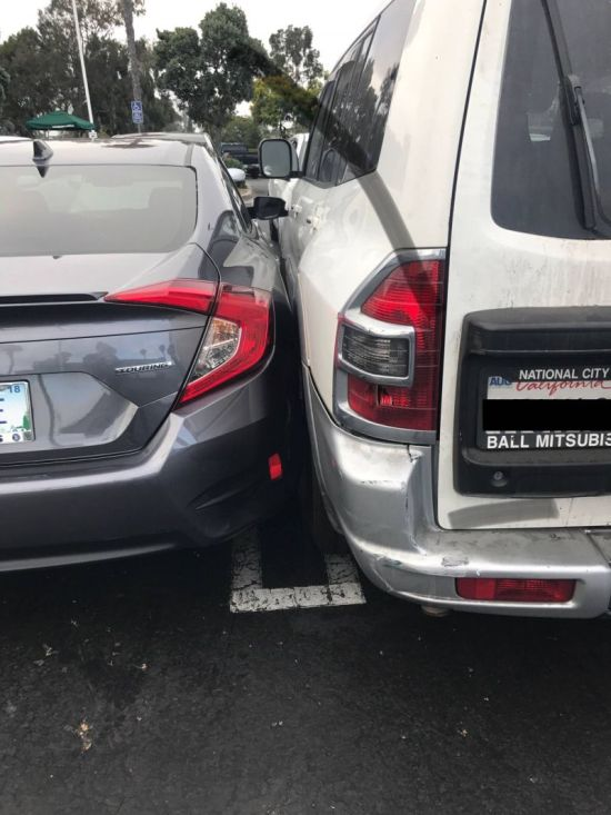 Guy In SUV Finds Perfect Parking Spot