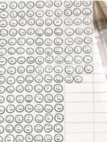 Here's How Many Smiles It Takes To Drain A Ballpoint Pen