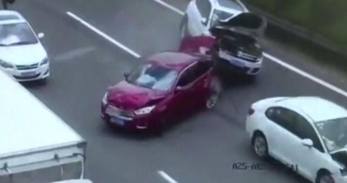 Couple Holding Baby Almost Get Killed By Oncoming Car