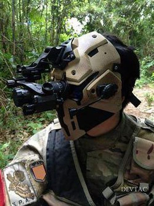 SAS Soldiers Try On Special Star Wars Style Helmets