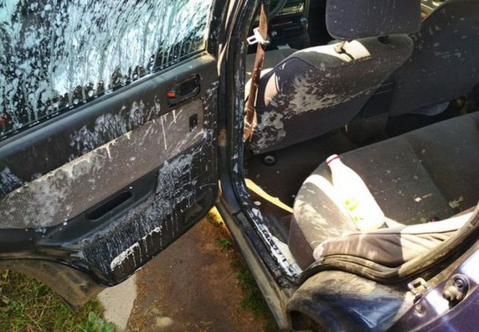 Yogurt Explodes In Hot Car Left In The Sun