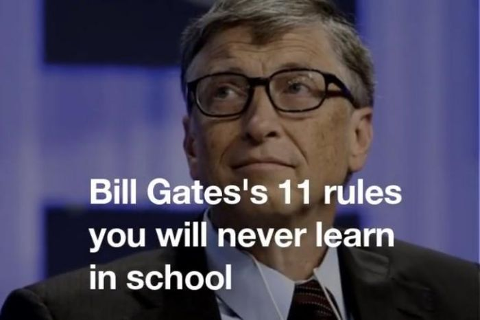 Bill Gates Shares 11 Things They Won't Teach You In School