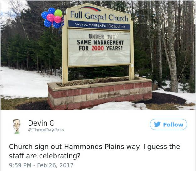 Clever Church Signs That Are Undeniably Hilarious