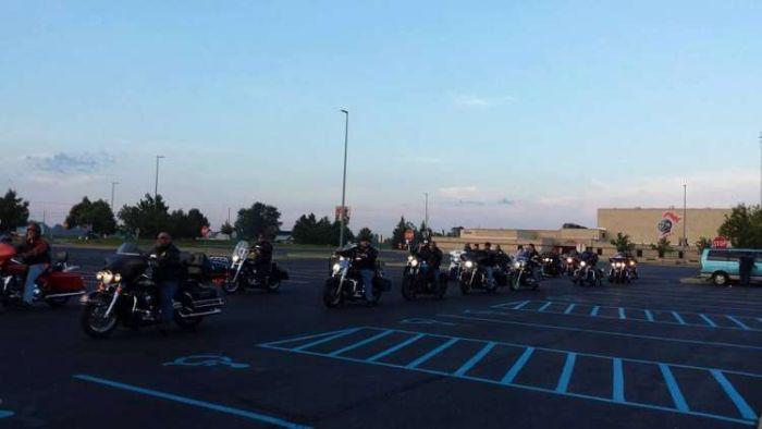 Kid Gets Escorted To School By 50 Bikers