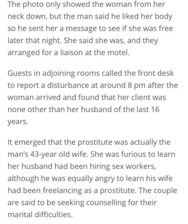 Man Gets Big Surprise When He Meets With A Prostitute In A Motel
