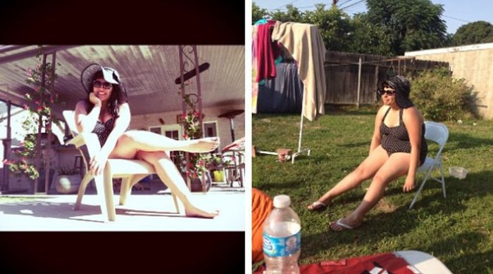 Pictures That Capture The Difference Between Instagram And Real Life