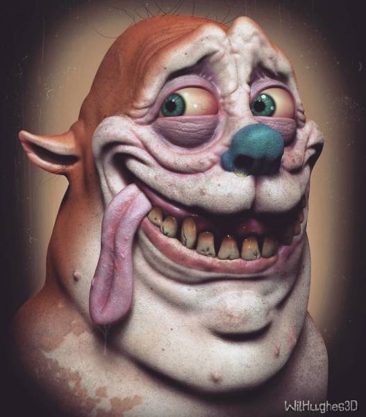 Terrifying Portraits Of Your Favorite Characters