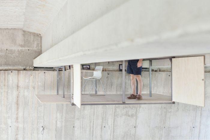 Fernando Abellanas Designs Secret Art Studio Under A Bridge In Spain