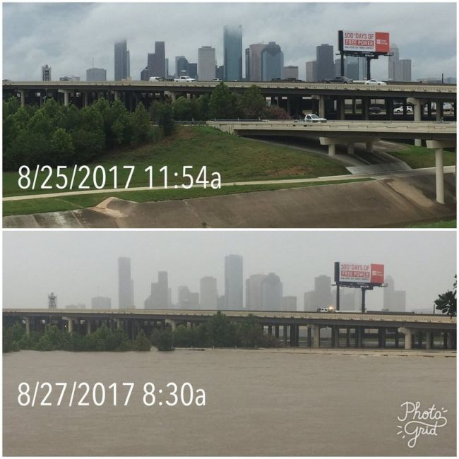 Before And After Photos Show Aftermath Of Houston Flood