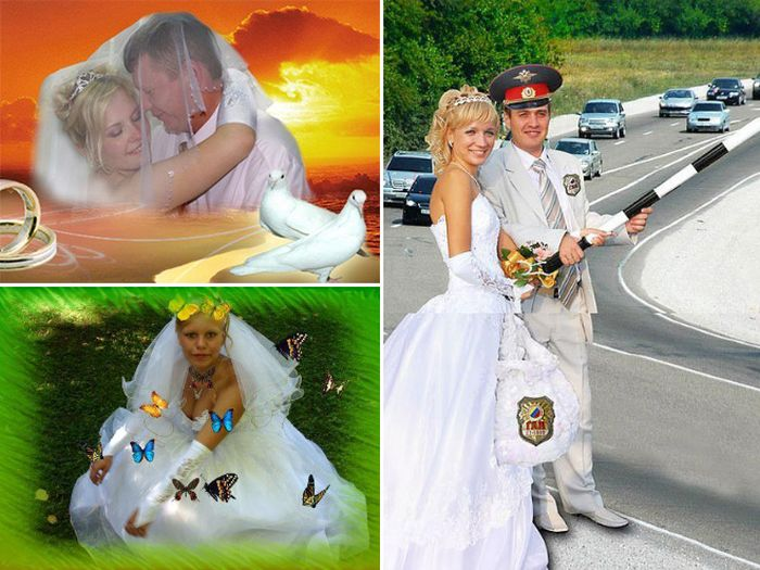 Awfully Photoshopped Russian Wedding Pictures