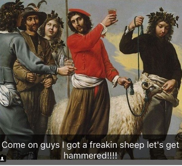 Paintings With Funny Captions