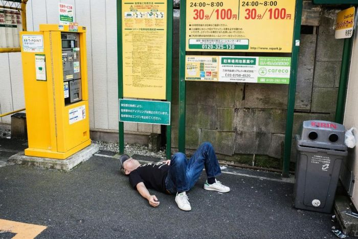 Drunk People in Japan