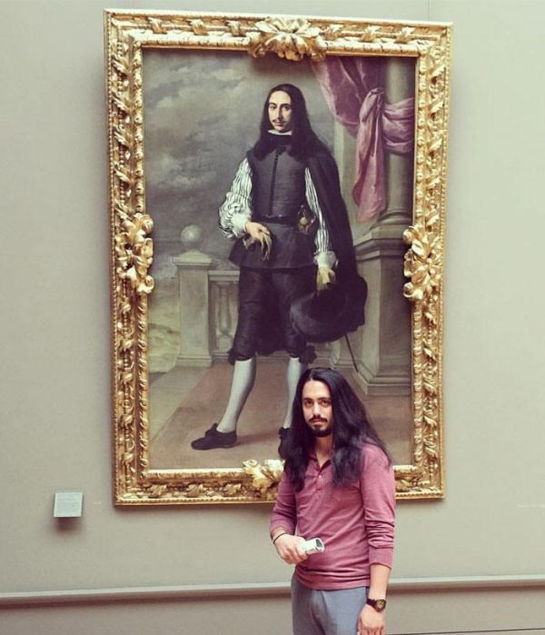 People Share Brilliant 'Doppelganger' Snaps Of Themselves With Lookalike Paintings At Museums And Galleries