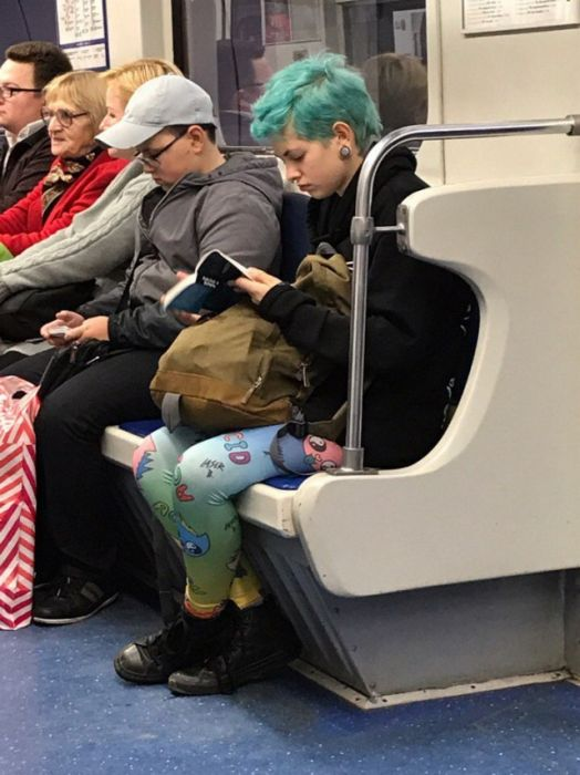 Strange People In Russian Subway