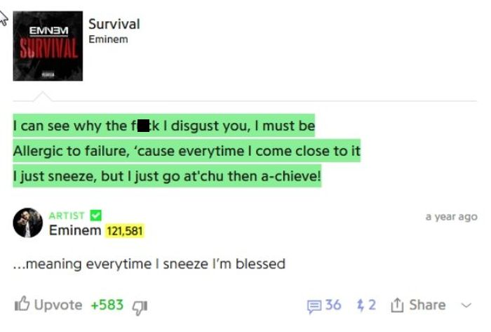 Eminem Takes You Behind The Scenes With Interesting Song Annotations