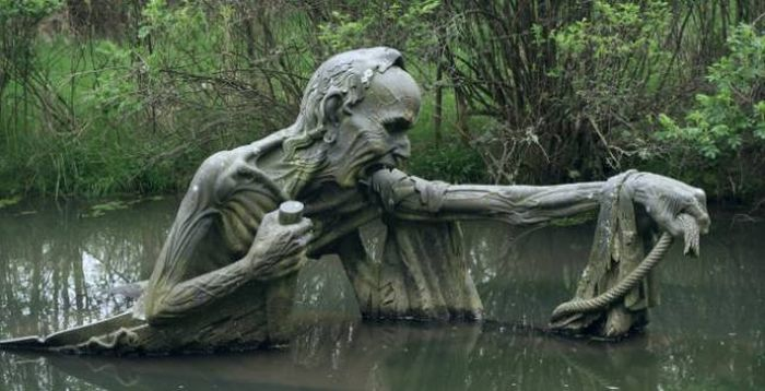Scary and Strange Statues