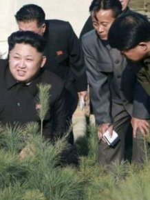 Kim Jong-Un Can't Stop Looking At Food