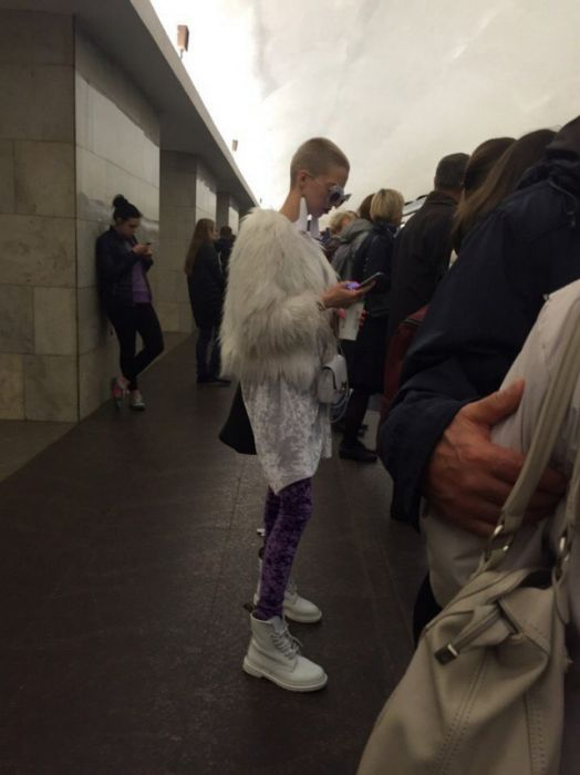 Strange People In The Russian Cities' Subways