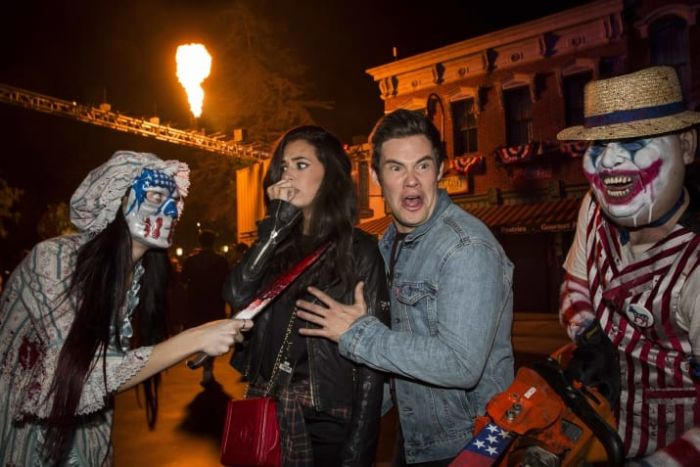 Celebs Being Terrified At Halloween Horror Nights