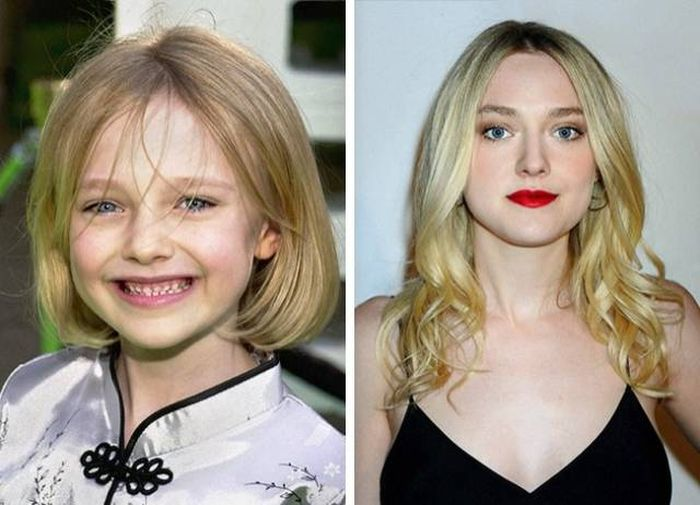 Celebrities as kids and now