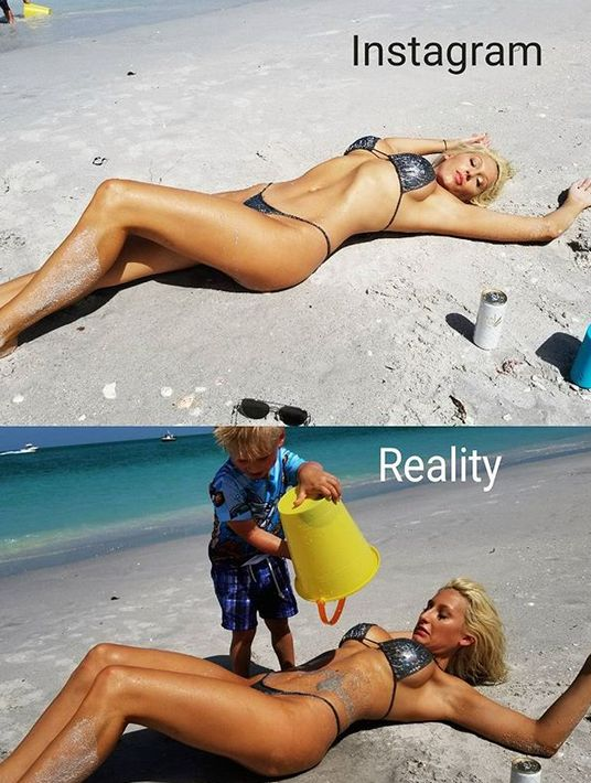 Real Life Vs Social Network Photos
