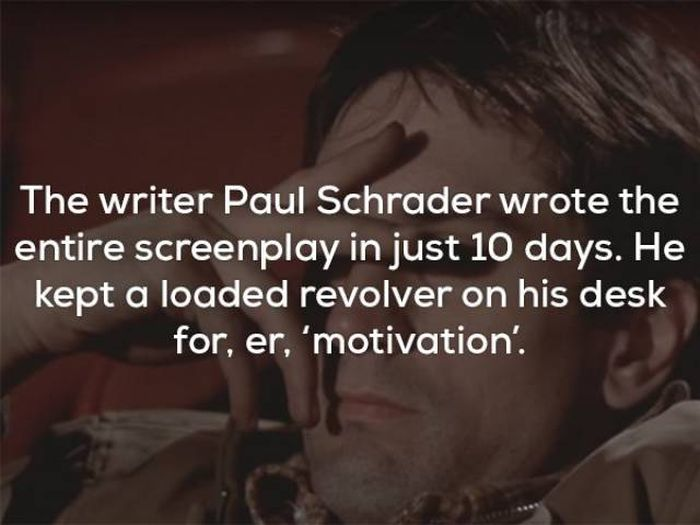 "Facts About ""Taxi Driver"""