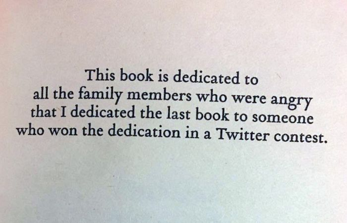 Brilliant Book Dedications