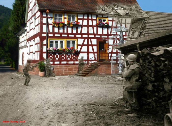 Amazing Then & Now Images of WWII by Adam Surrey