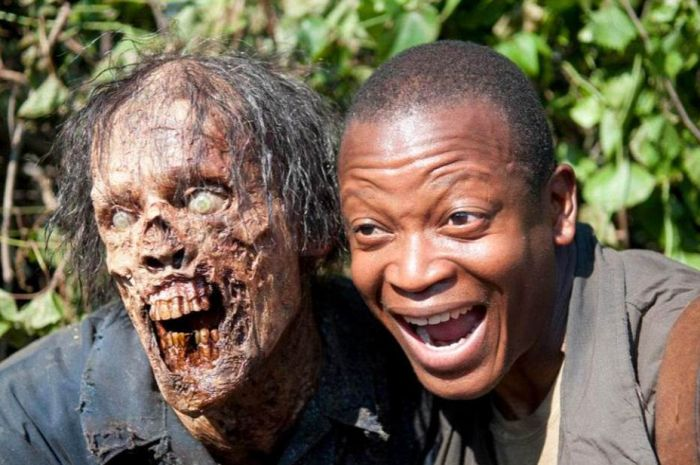 Walking Dead Cast Laughing Behind The Scene