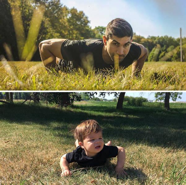 Baby VS A Fashion Model