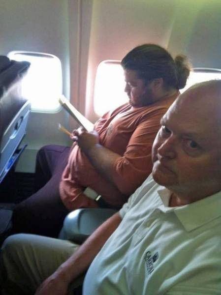 Awkward Airplane Photos