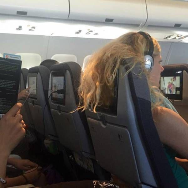 Awkward Airplane Photos