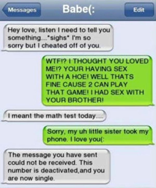 Cheaters Get Busted