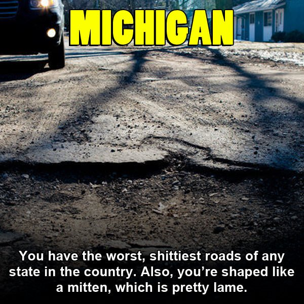 Funny Pics That Rip On Each US State