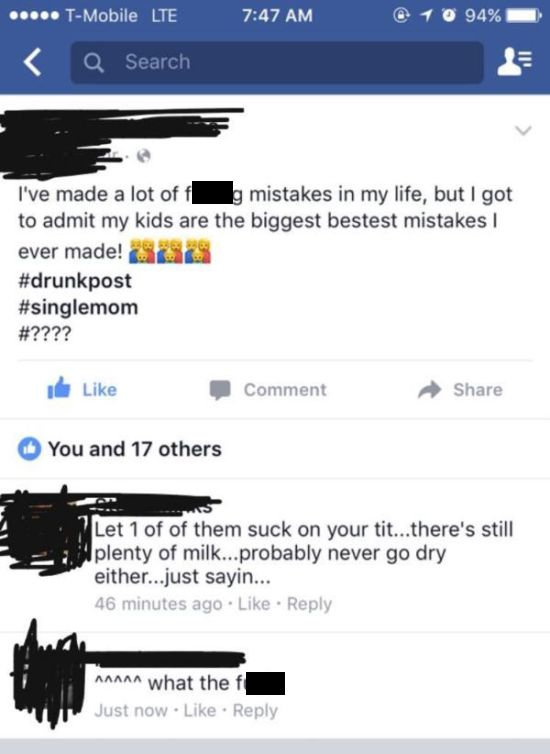 Trashy Facebook Posts