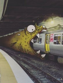 Illustrator Adds Funny Monsters To Everyday Life