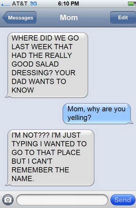 Hilarious Text Responses From Mom