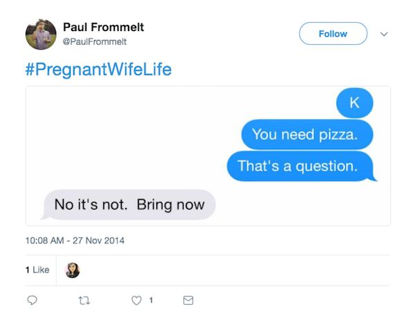 What's It's Like To Have a Pregnant Wife